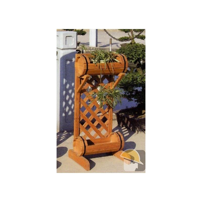 Portavaso legno due piani botte 40x26xh.90 — Portavaso in ...
